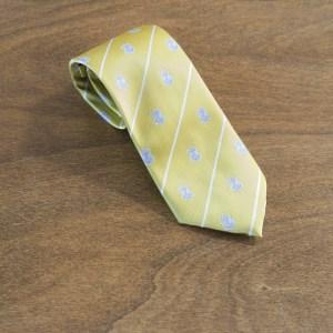 Cravatta a righe fondo giallo mod. 198
