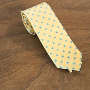 Cravatta fantasia fondo giallo mod. 222