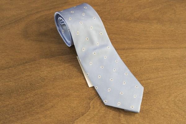 Cravatta fantasia fondo celeste mod. 243
