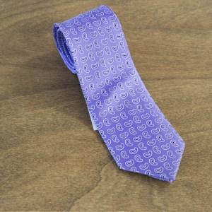 Cravatta fantasia fondo viola mod. 244