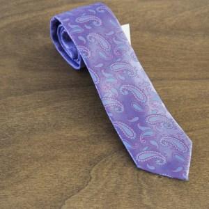 Cravatta fantasia fondo viola mod. 245
