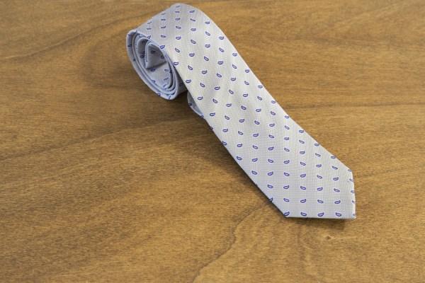 Cravatta fantasia fondo grigio chiaro mod. 257