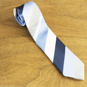 Cravatta a righe fondo azzurro mod. 291