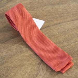 Cravatta in maglina fondo arancione/bianco mod. 298