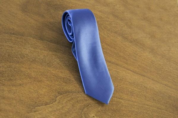 Cravatta tinta unita fondo azzurro mod. 030