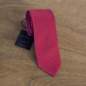 Cravatta fantasia fondo rosso mod. 079