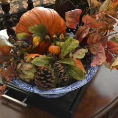 Living Room Coffee Table Decorations Oversized Couches Mrs. Ralph's Touch Of Fall Decor