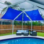 Screen Enclosures Shade Sails Shade Sails Spice Up Florida Pool Cages