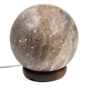Zoutlamp – Bol grijs