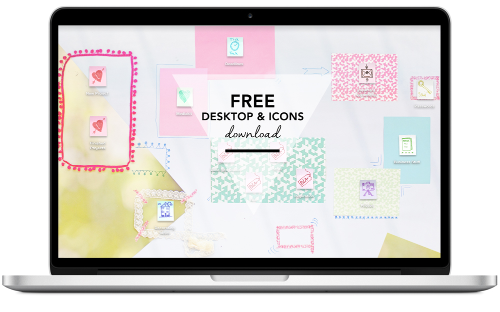 TECH  Custom Desktop Icons and Wallpaper