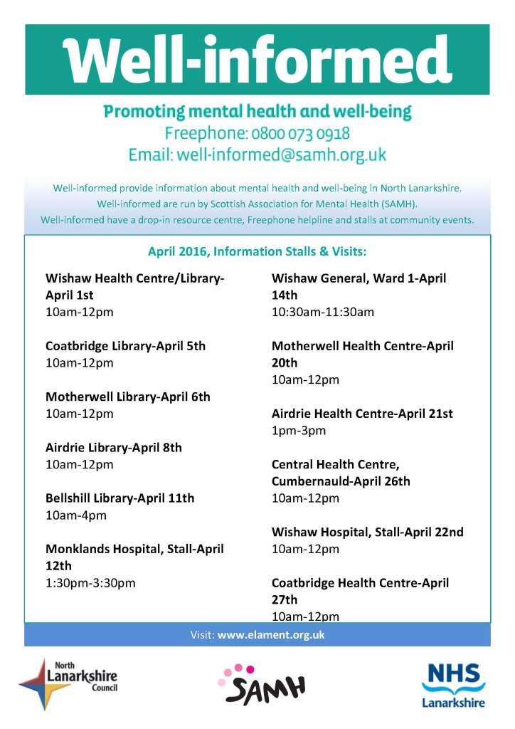 WellInformed info stalls april 2016
