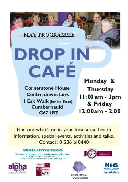 Drop in Cafe – May Programme 2016