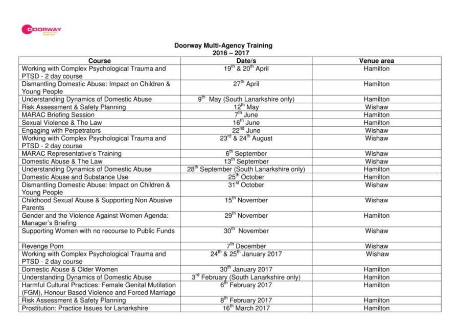 thumbnail of Doorway Training Booking Form 2016-2017