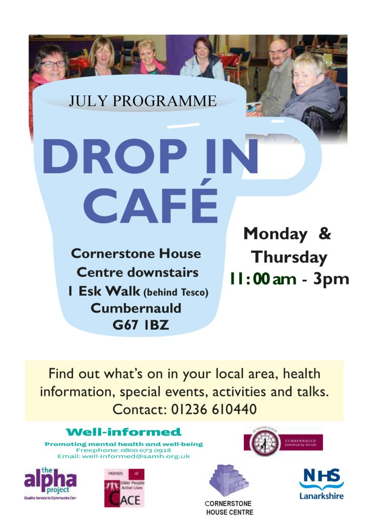 thumbnail of July Programme drop in cafe 2016