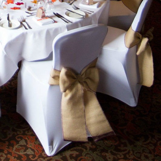 chair covers and sashes hire egg stand bunnings lancashire catering hessian sash