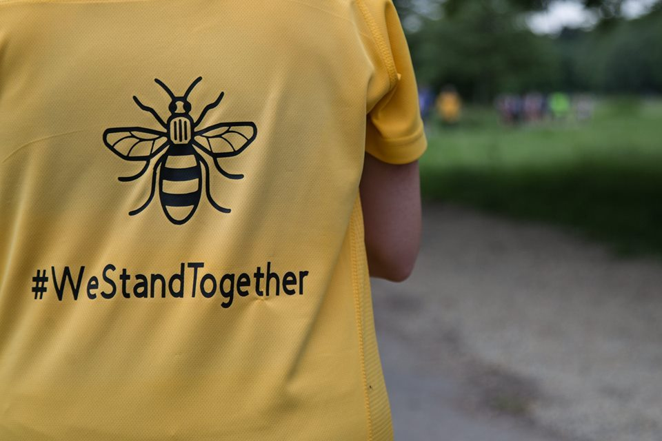 Around 300 people attended Witton Park, Blackburn  to run/walk 3 miles in memory of the Manchester attack. PICTURE: Shafiq Khan.