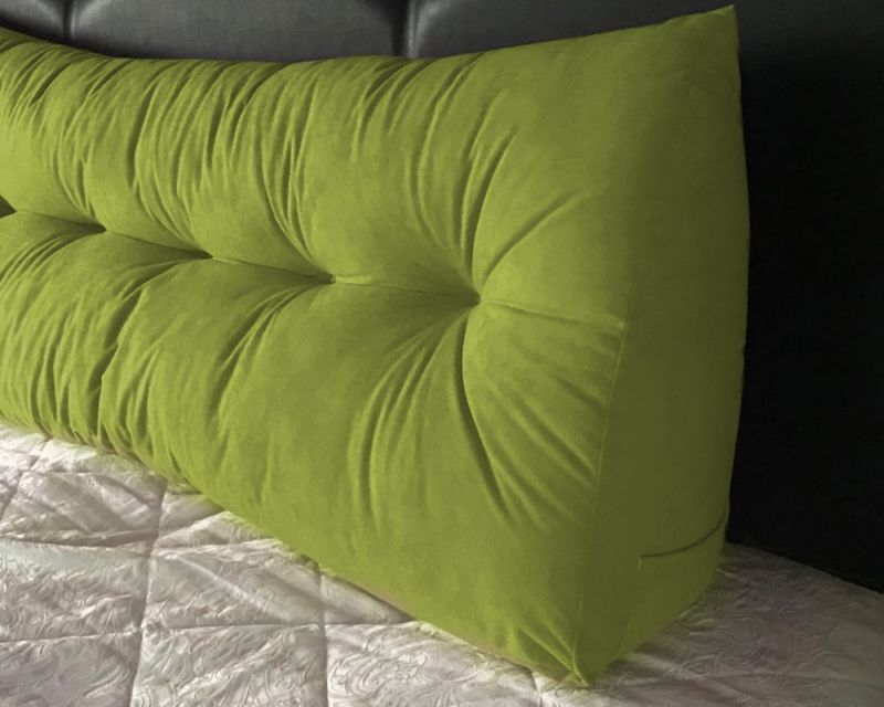 suede triangular wedge headboard cushion king size bed
