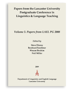 Volume 3. Papers from LAEL PG 2008