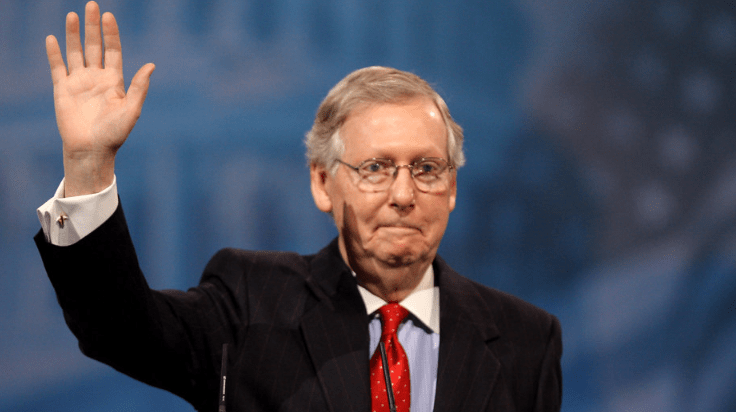 Mitch McConnell accidentally makes a joke about Democrats and impeachment