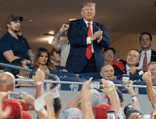 Red capped fans give Trump an embarrassing rude awakening at World Series