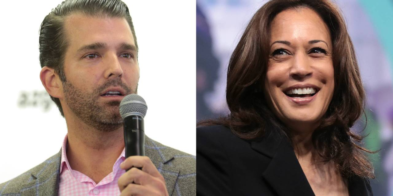 Kamala Harris burns Donald Trump Jr. to the ground for his childish Twitter posting