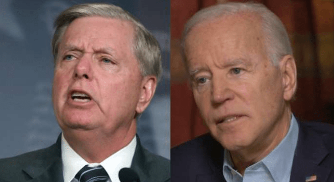 'He will go down in a way that he will regret his whole life' — Biden reacts to Graham attacking him