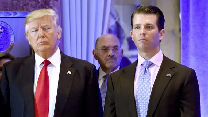 Donald Trump Jr. shares bizarre meme that's certain to frighten his father