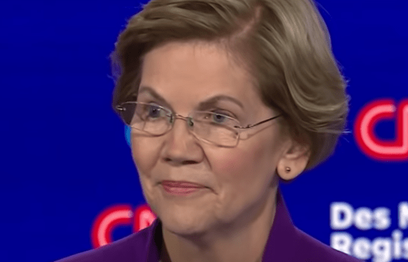 Elizabeth Warren scores wild applause after answering whether a woman can beat Trump