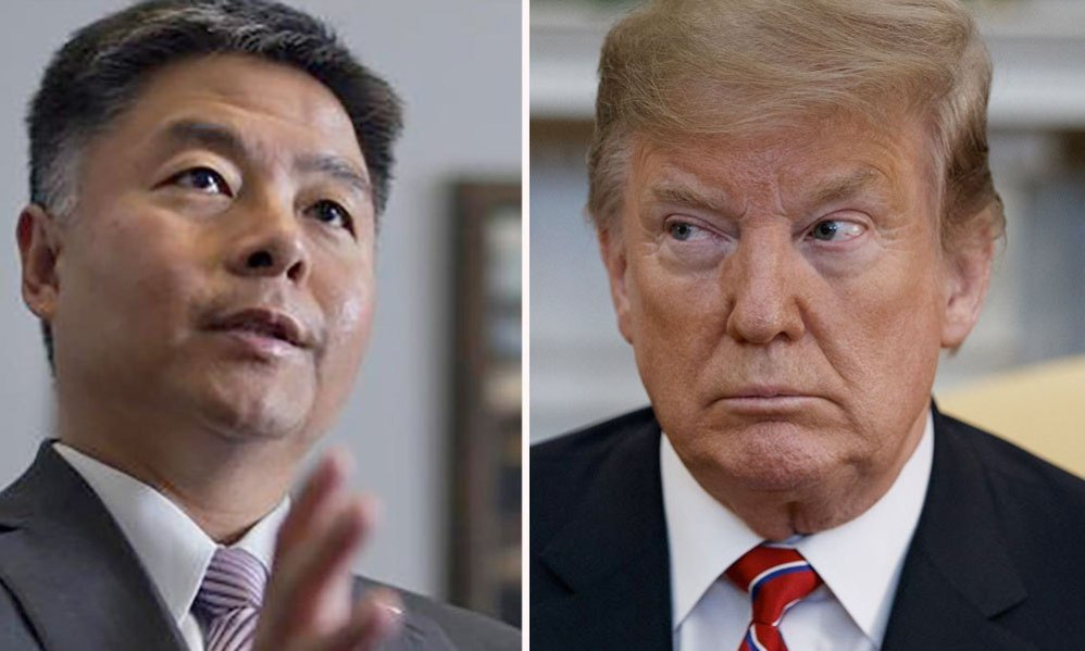 Rep. Ted Lieu shreds Trump for his disgusting 'Chinese virus' slur