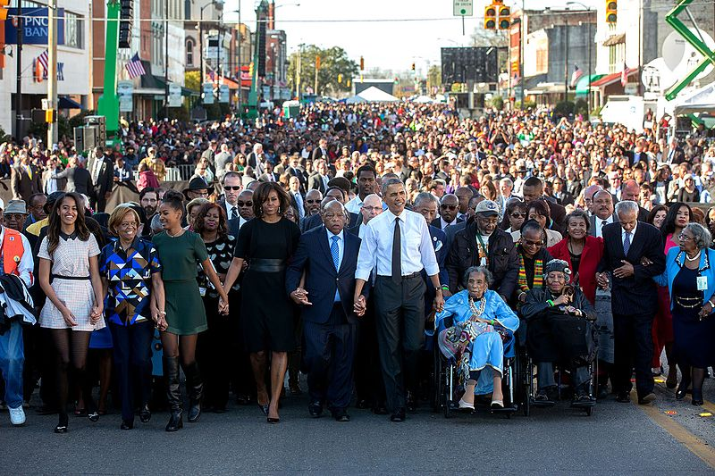 Obama pays tribute to civil rights icon John Lewis as Trump remains silent