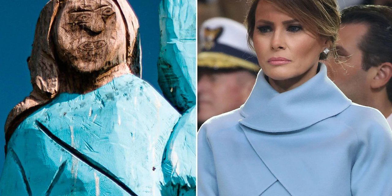 Wooden statue of Melania Trump located in her Slovenian hometown set on fire