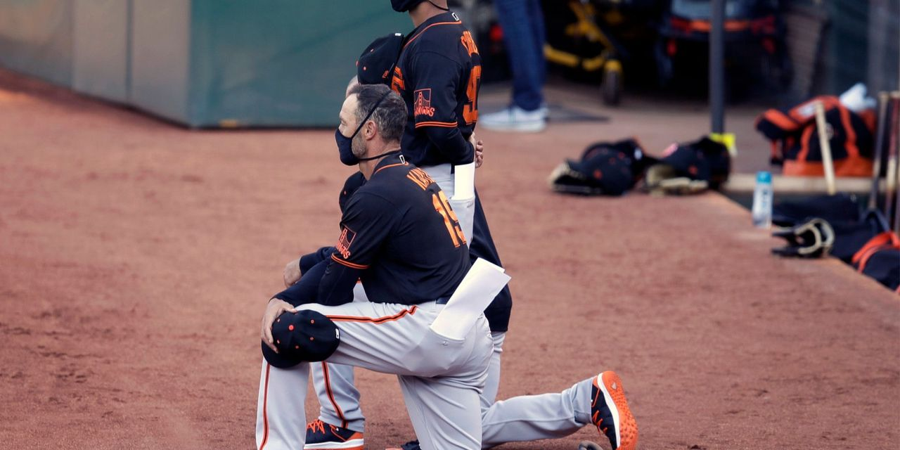 Trump declares baseball is 'over for me' after SF Giants manager takes knee during anthem
