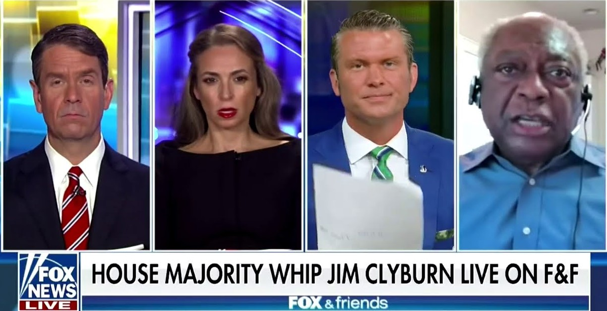 James Clyburn swats down Fox host for failing to report on right-wing extremist violence