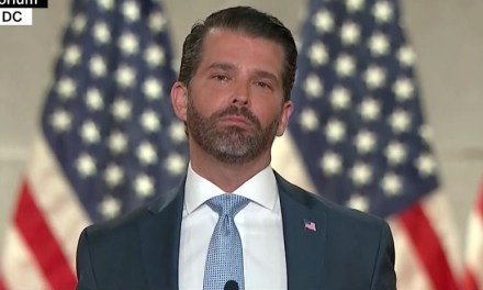 #CocaineConvention trends on Twitter after Don Jr's manic, glassy-eyed RNC speech