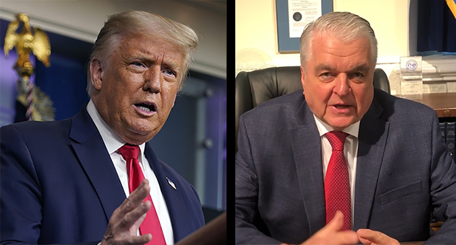 Trump accuses Nevada's governor of attempted 'coup' for daring to mail ballots to voters