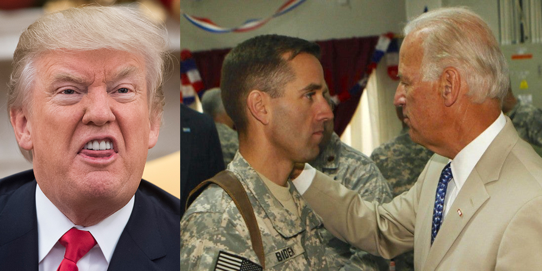Trump's campaign hits an all-time low by attacking Joe Biden for visiting his son's grave