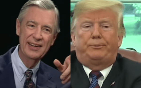 Trump gets trashed by Mr. Rogers' widow for visiting her neighborhood