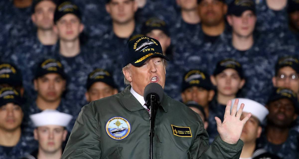 Draft-dodger Trump wants a military send-off to mark the end of his failed presidency