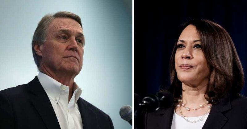Georgia senator David Perdue gets major blowback for racist pronunciation of Kamala Harris' name