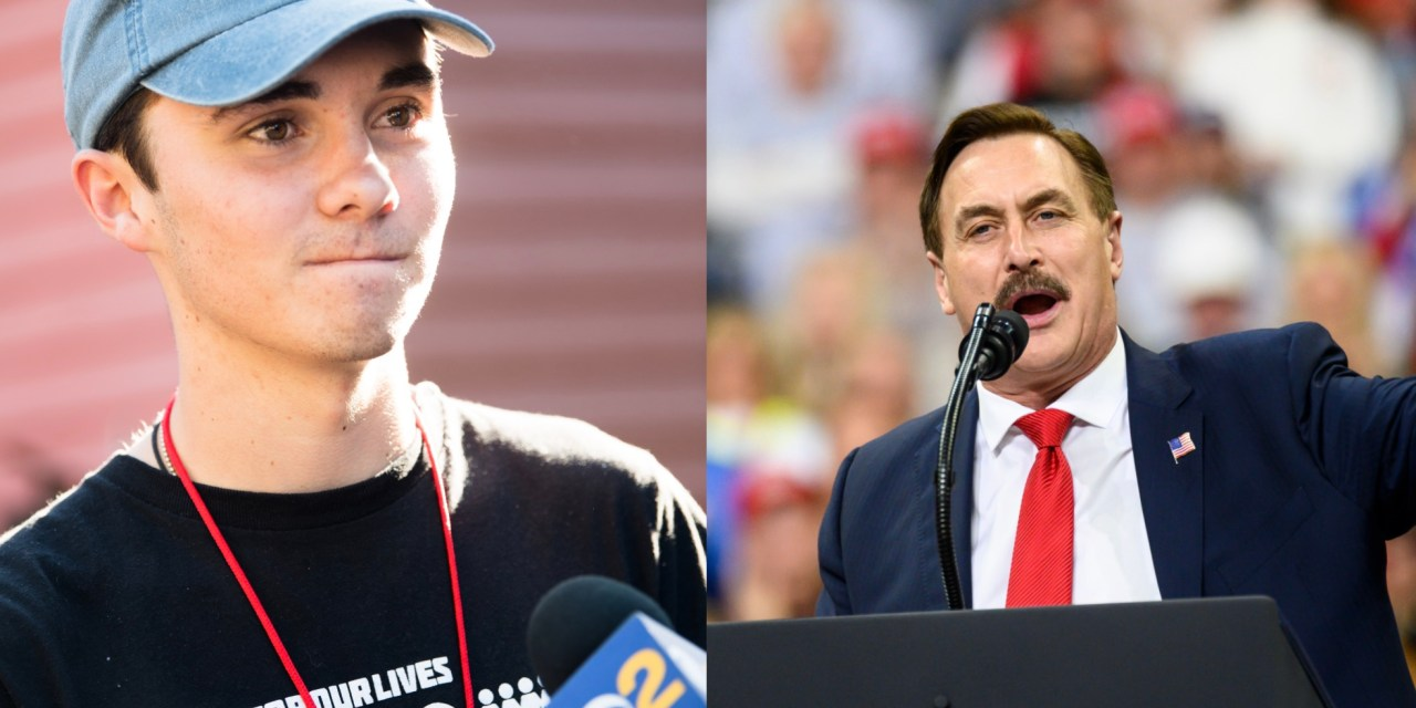 David Hogg completely owns MyPillow's Mike Lindell with hilarious tweetstorm