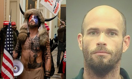 'QAnon Shaman' says he kept fellow rioters from 'stealing muffins' and that proves he's innocent