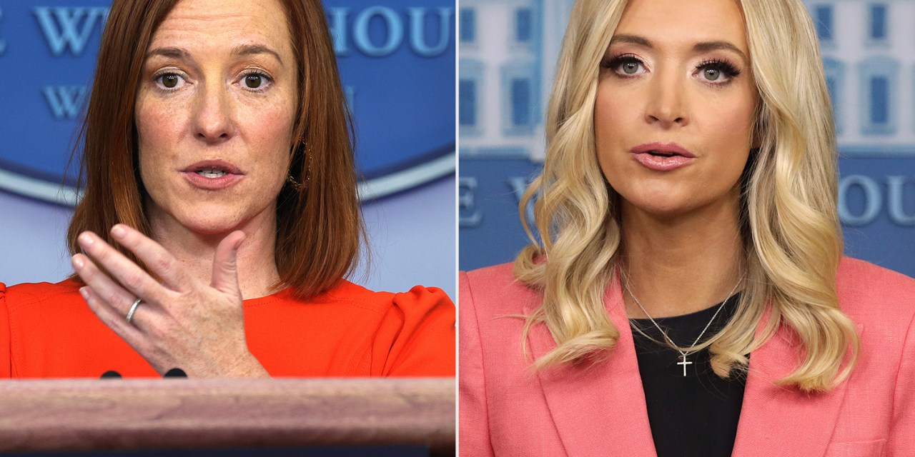Jealous Kayleigh McEnany pouts that Jen Psaki is getting better press coverage than she did