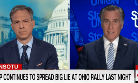 Mitt Romney mocks those who continue to spread the 'big lie' and deny Biden is POTUS
