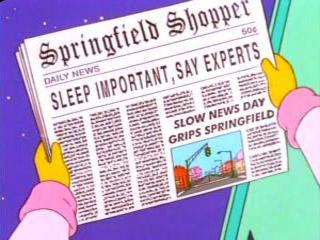 Slow News Day Grips Springield