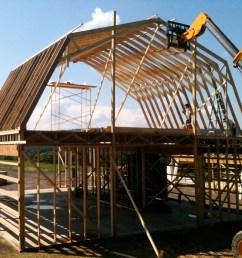 framing the 2 story barn [ 1500 x 1125 Pixel ]