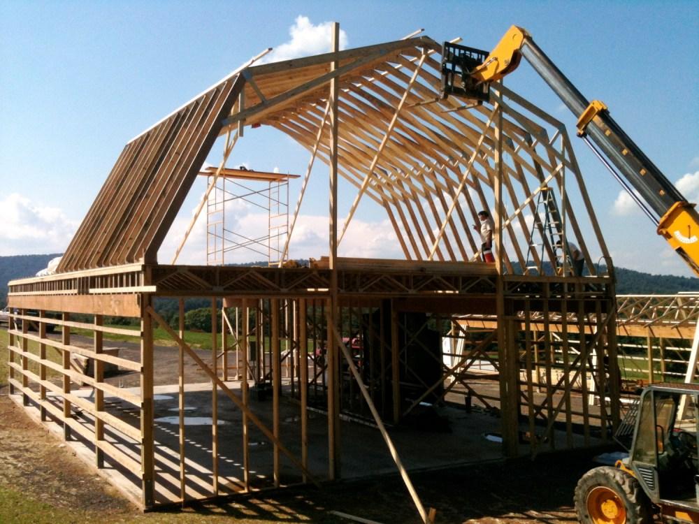 medium resolution of framing the 2 story barn