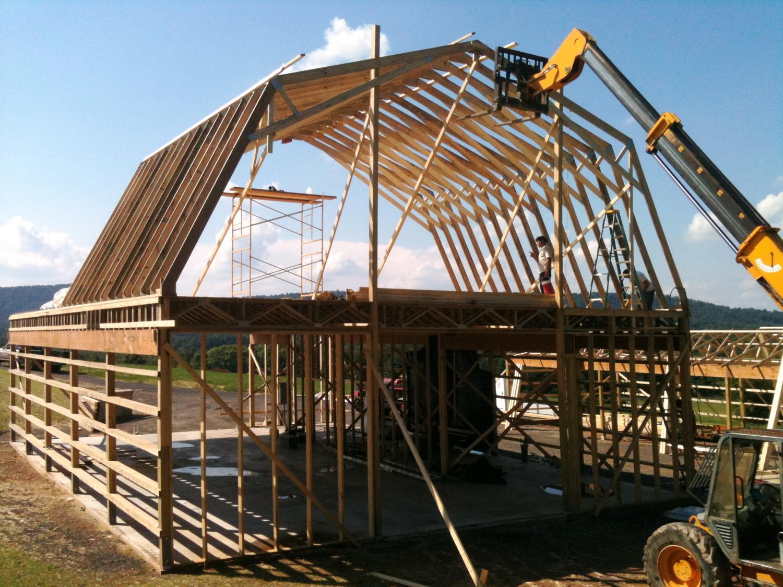 hight resolution of framing the 2 story barn