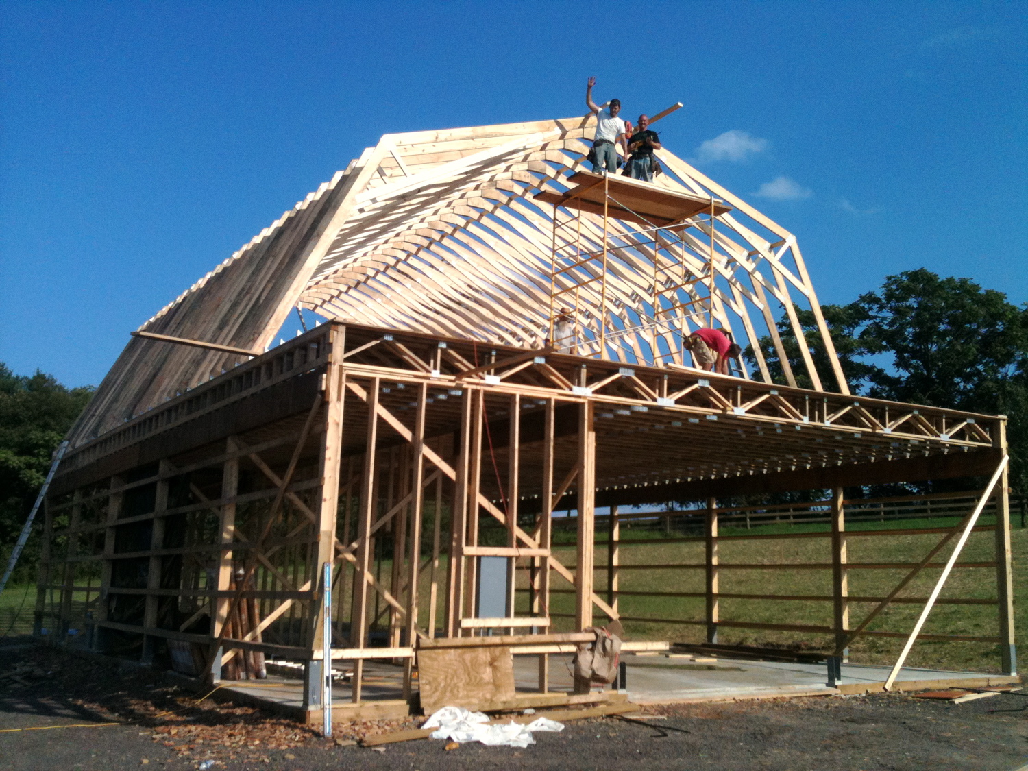 hight resolution of two story pole barn