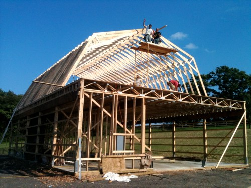 small resolution of two story pole barn