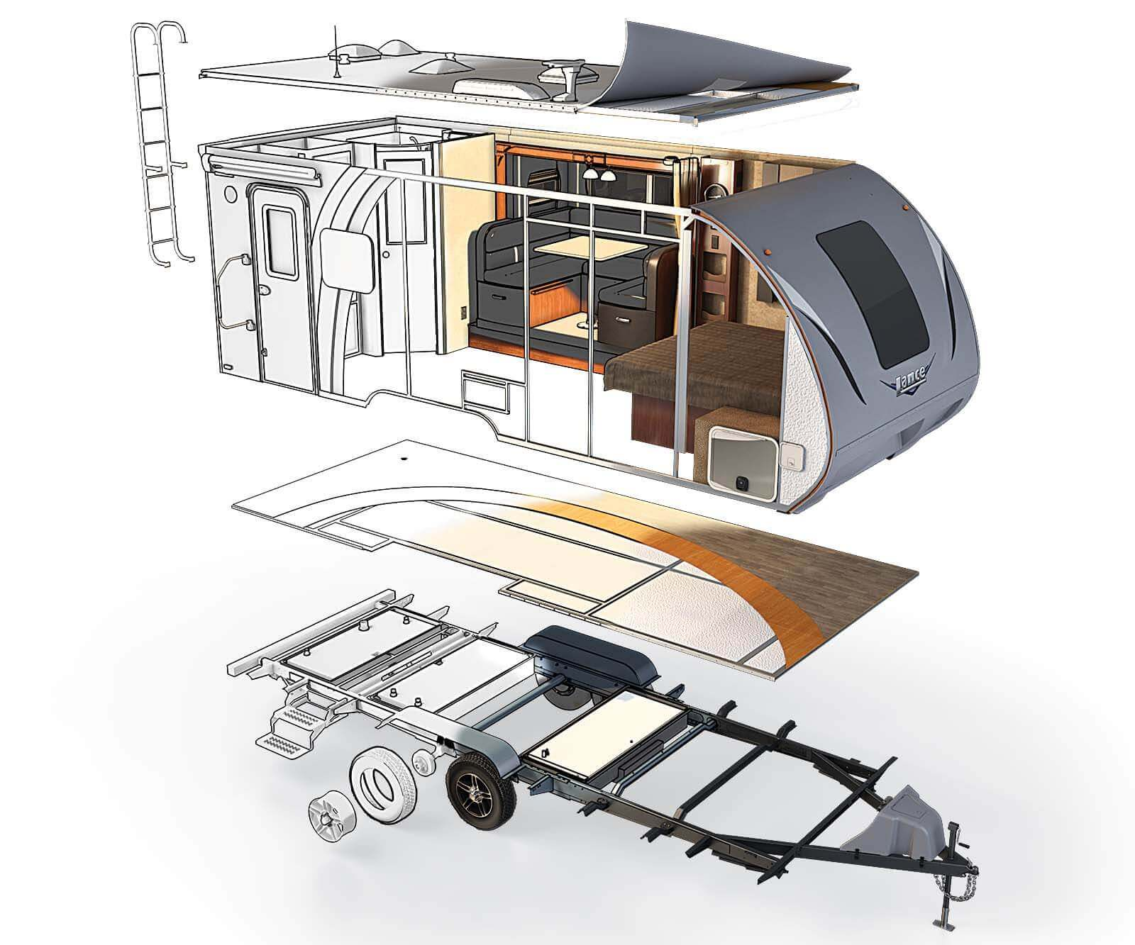 hight resolution of travel trailer construction